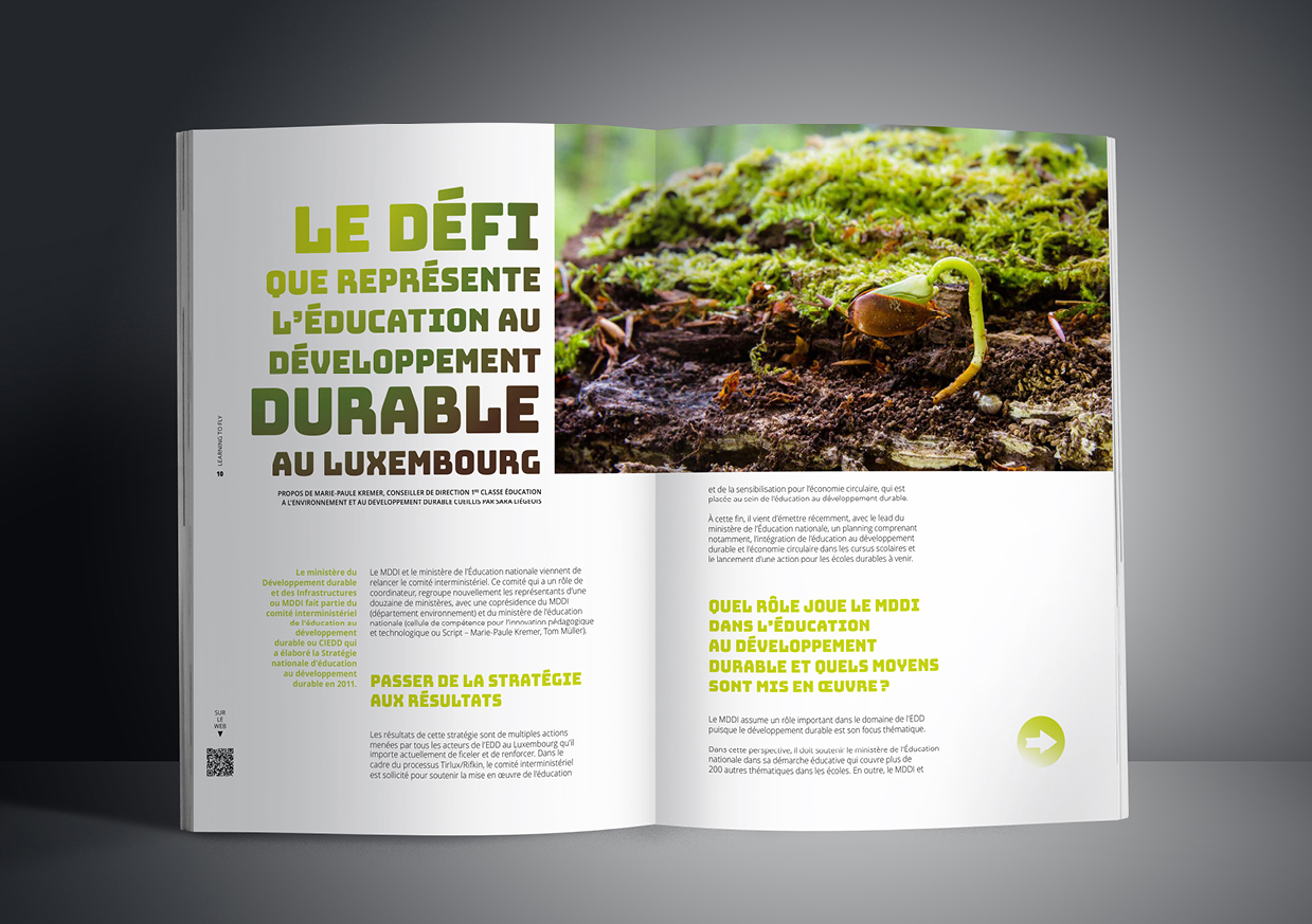 Pages éditoriales du magazine luxembourgeois 4×3