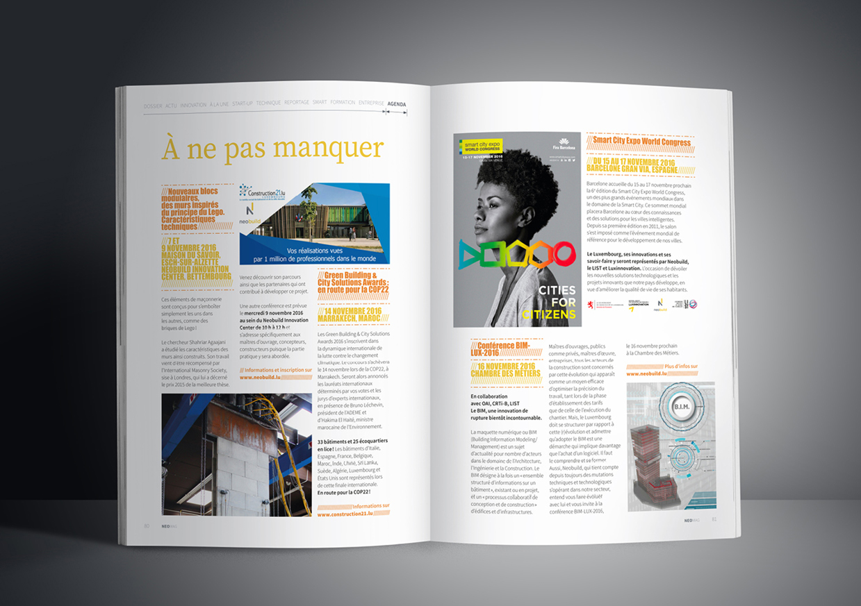 Pages agenda du magazine luxembourgeois Neomag