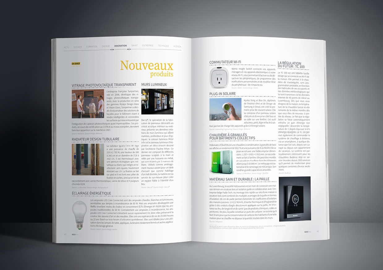 Pages brèves du magazine luxembourgeois Neomag